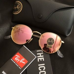Ray Ban Round Metal Rose Gold RB3447